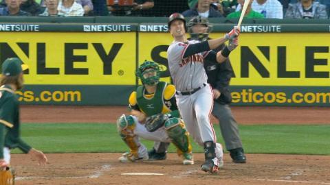 SF@OAK: The Giants score six runs in the 3rd inning