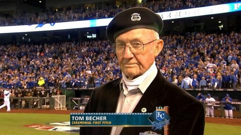 ALCS Gm1: Retired Army veteran throws first pitch
