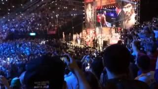 Floyd Mayweather Vs Manny Pacquiao Full Weigh In And Face Off - Esnews Boxing