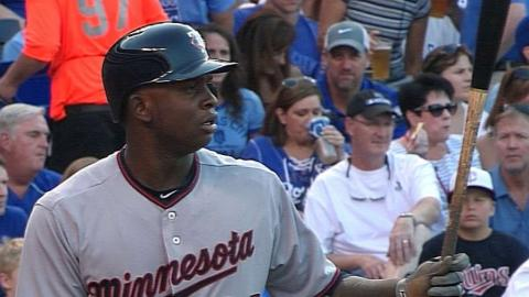 MIN@KC: Sano has two hits in second Major League game