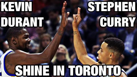 Stephen Curry & Kevin Durant Shine in Toronto