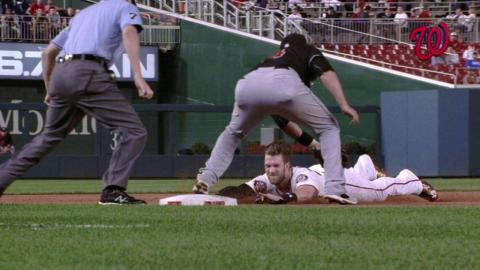 MIA@WSH: Harper ruled safe at third on review
