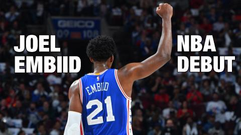 Joel Embiid NBA Debut in Philly! | 10.26.16