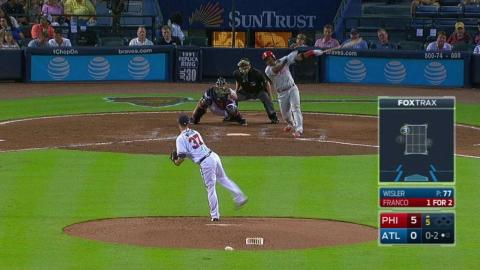 PHI@ATL: Wisler fans Franco for his third strikeout
