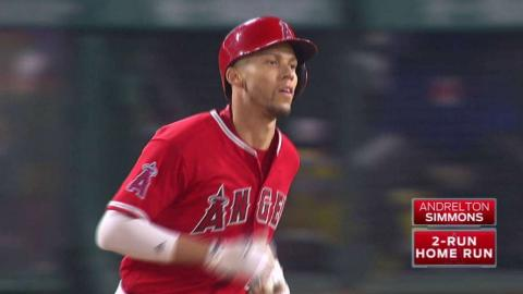 LAD@LAA: Simmons opens scoring with two-run homer