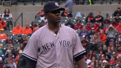 NYY@BAL: Pineda fans Davis to end the frame