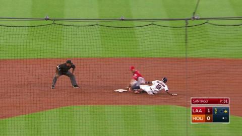 LAA@HOU: Calhoun throws out Valbuena at second base