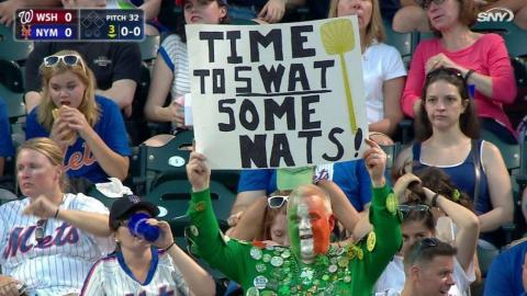 WSH@NYM: Mets fans get excited in the 3rd inning