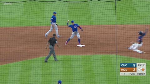 CHC@HOU: Cubs turn inning-ending double play in 7th