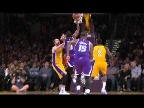 Rajon Rondo Takes the Contact and Slams it Home!