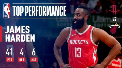 James Harden Drops 41 in Win Against Heat | February 07, 2018
