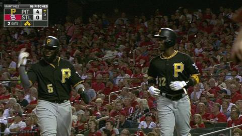 PIT@STL: Marte hits a two-run double to right-center