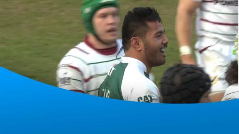 Manu Tuilagi's big hit on Blair Cowan