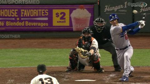 LAD@SF: Barnes, Brown perplexed after double contact