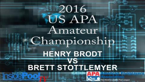 2016 U S  APA Amateur Championship Henry Brodt vs Brett Stottlemyer