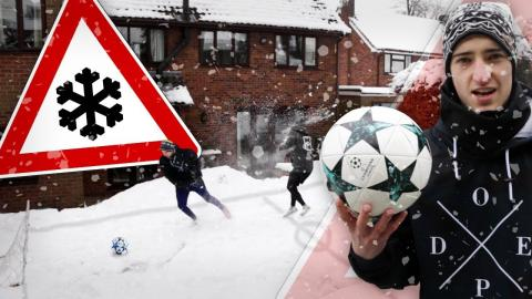 EXTREME SNOW FOOTBALL PITCH!!