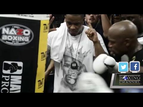 Floyd Mayweather workout august 10th