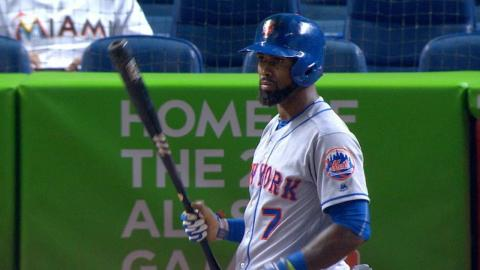 NYM@MIA: Reyes shows off with bat, glove