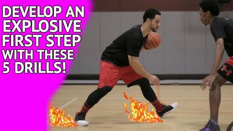 5 Basketball Drills & Moves To Get Past Defenders EASY! (EXPLOSIVE FIRST STEP