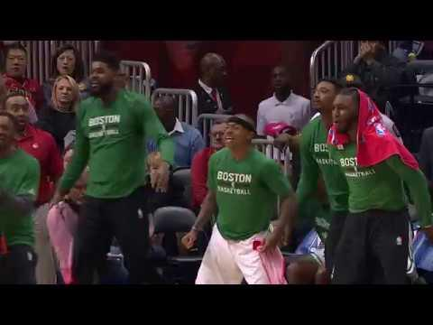 Jaylen Brown Posterizing in Atlanta, Bench Goes Wild | 01.13.17