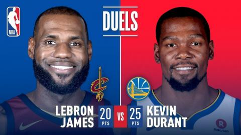 LeBron James & Kevin Durant Battle In Oracle On Christmas Day!