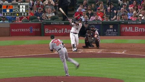 BAL@HOU: Valbuena launches a two-run shot to right