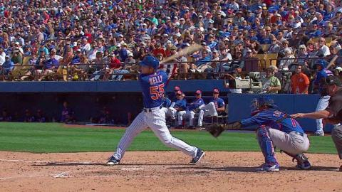 NYM@CHC: Kelly goes deep to drive in three