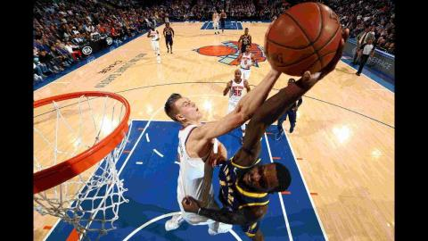 Best Plays From Sunday Night's NBA Action! | Kristaps Porzingis' Block and More!