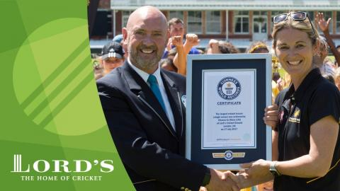 Guiness World Record cricket lesson | MCC/Lord's