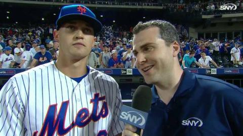 CHC@NYM: Nimmo discusses the Mets' tight win