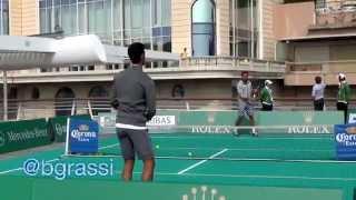 Djokovic & Wawrinka Mini Tennis Exhibition In Monte Carlo 2015