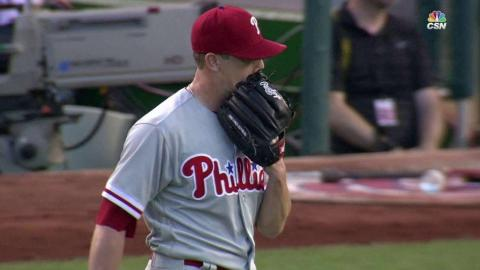 PHI@WSH: Phillies turn 4-6-3 double play