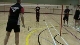 Simple Badminton Forehand Lift To Rear Court