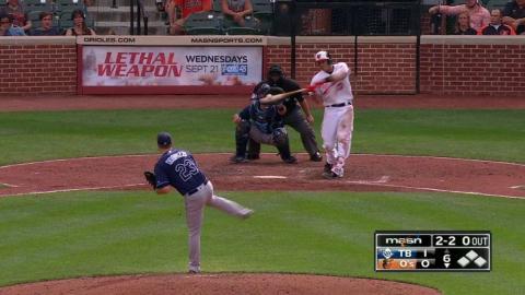 TB@BAL: Machado belts a solo home run to center field