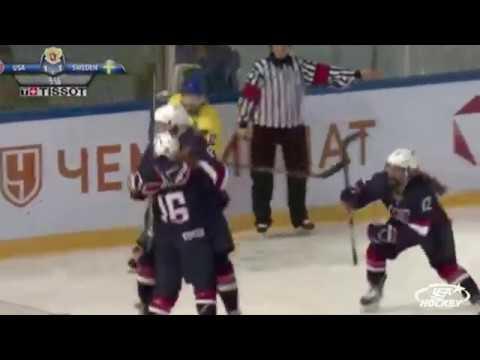2018 U18WWC Highlights: USA 9, SWE 3 (GMG)