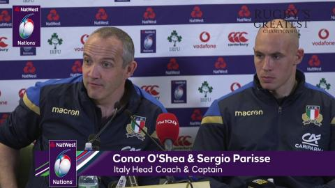 Conor O'Shea after Ireland 56-19 Italy (English) | NatWest 6 Nations
