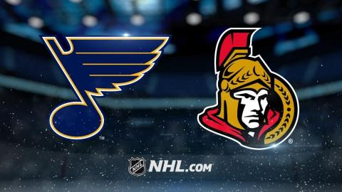Schenn, Steen lead Blues to 4-1 win against Sens