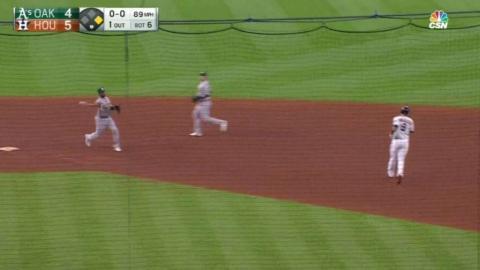 OAK@HOU: Athletics turn two in the 6th