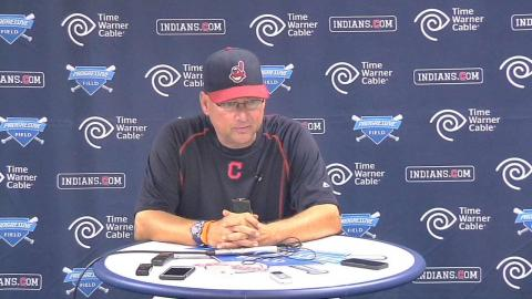 TEX@CLE: Francona discusses Carrasco's start in win