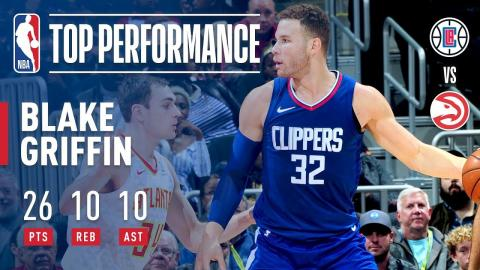 Blake Griffin Gets a Triple-Double (26/10/10) vs. Hawks | November 22, 2017