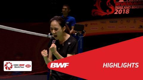 Princess Sirivannavari Thailand Masters 2018 | Badminton WS - SF 2 - Highlights | BWF 2018