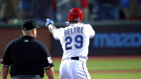 Beltre clears the bases with a double