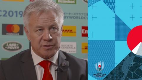 Georgia head coach Milton Haig reacts to Rugby World Cup draw