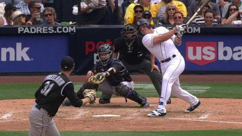 COL@SD: Renfroe hammers an RBI double to right