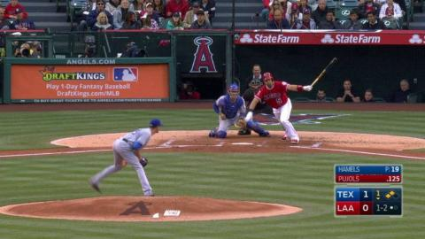 TEX@LAA: Pujols gets the Angels on the board