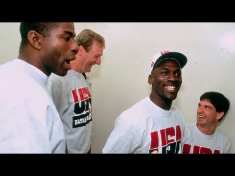 Michael Jordan, Magic Johnson's Squad Compete in Dream Team Scrimmage