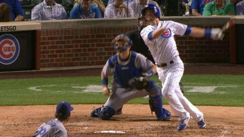 LAD@CHC: Bryant hits a two-run homer off Kershaw