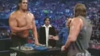 Triple H Vs The Great Khali - Arm Wrestling