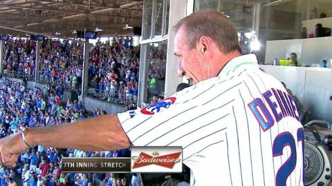 COL@CHC: Dernier sings during the 7th-inning stretch