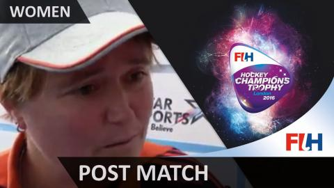 Post Match Interview Alyson Annan #HCT2016